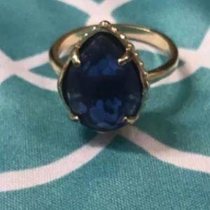 Kendra Scott Sz 7  blue cobalt ring